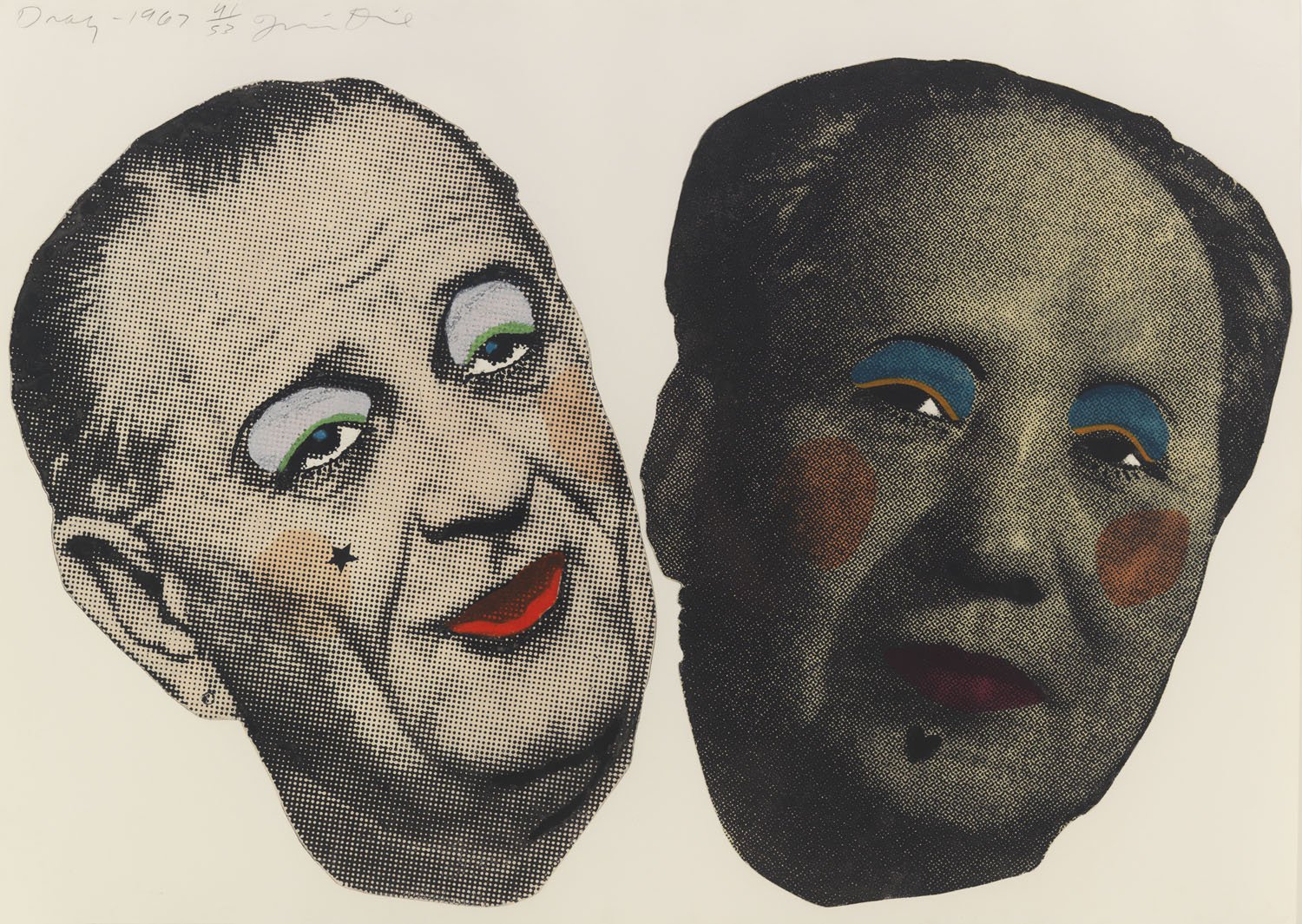 Jim Dine, Drag: Johnson and Mao, 1967. Photoetching. Collection of the New School, Art Collection, New York, NY. Photo by Tom Van Eynde