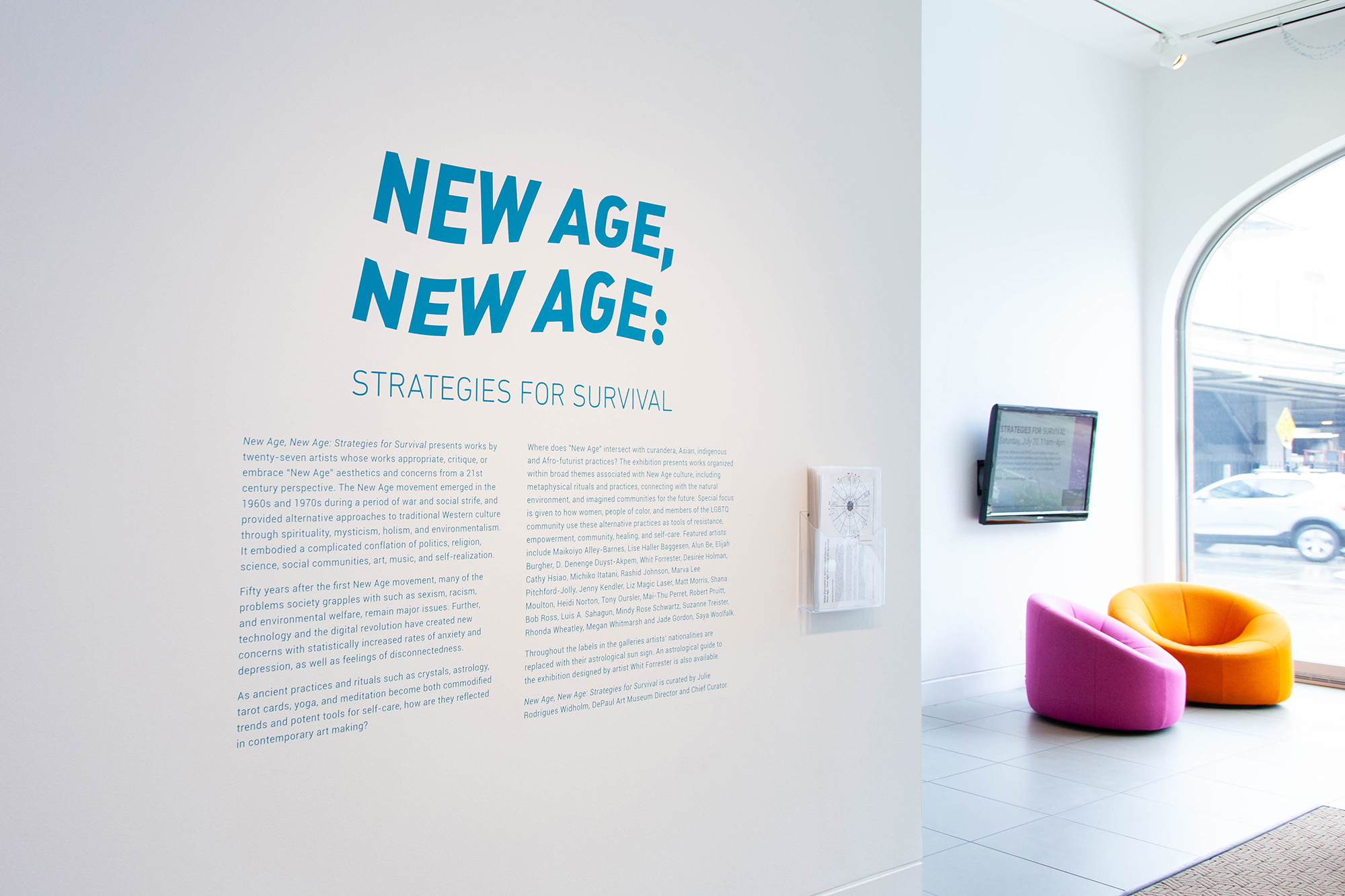 New Age, New Age: Strategies for Survival, installation view at DePaul Art Museum, 2019. Photo: DePaul Art Museum