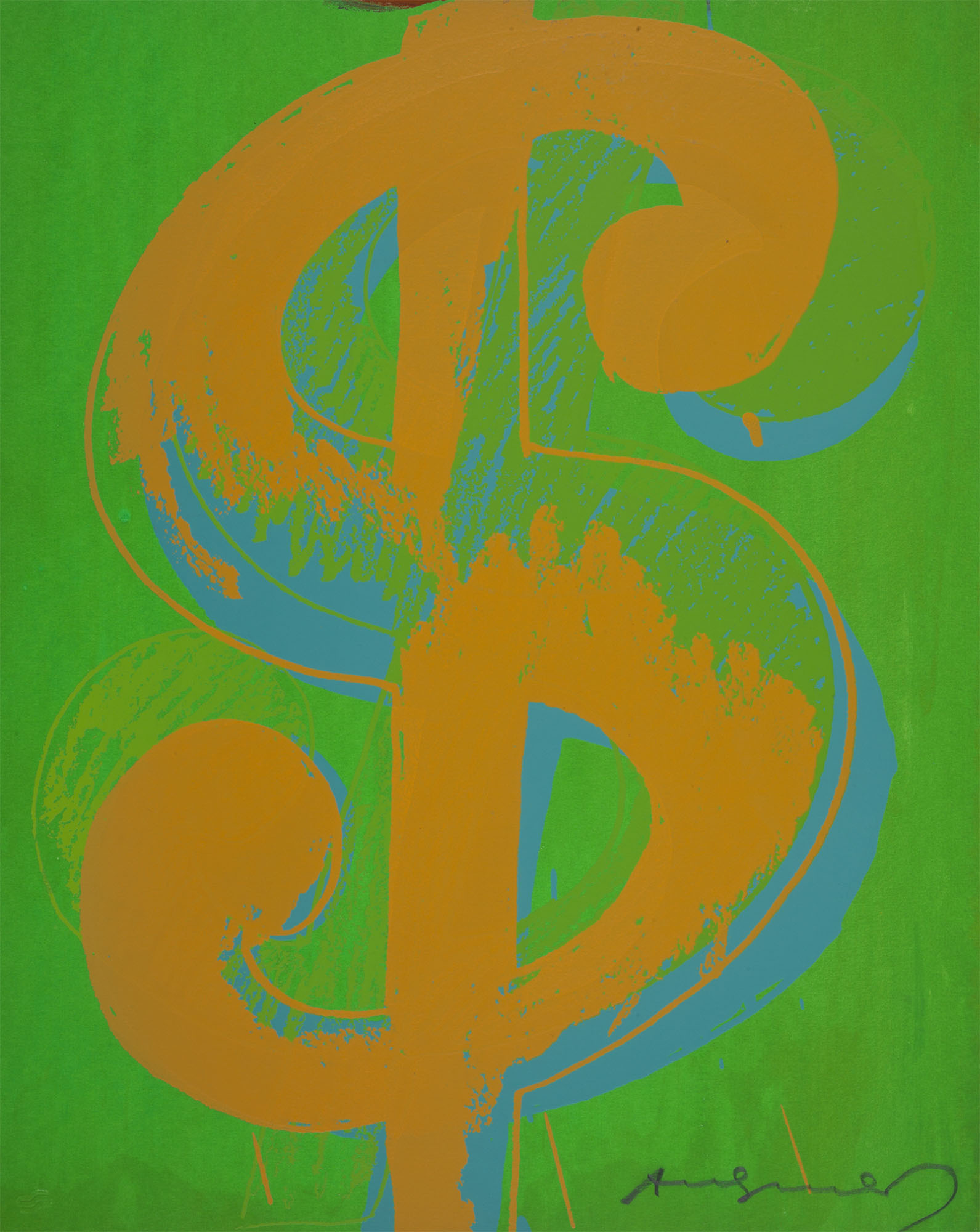 Andy Warhol, $1, 1982. Screenprint on Lenox Museum Board. Collection of DePaul Art Museum, extra, out of edition. Designated for research and educational purposes only. © The Andy Warhol Foundation for the Visual Arts, Inc., 2013.38
