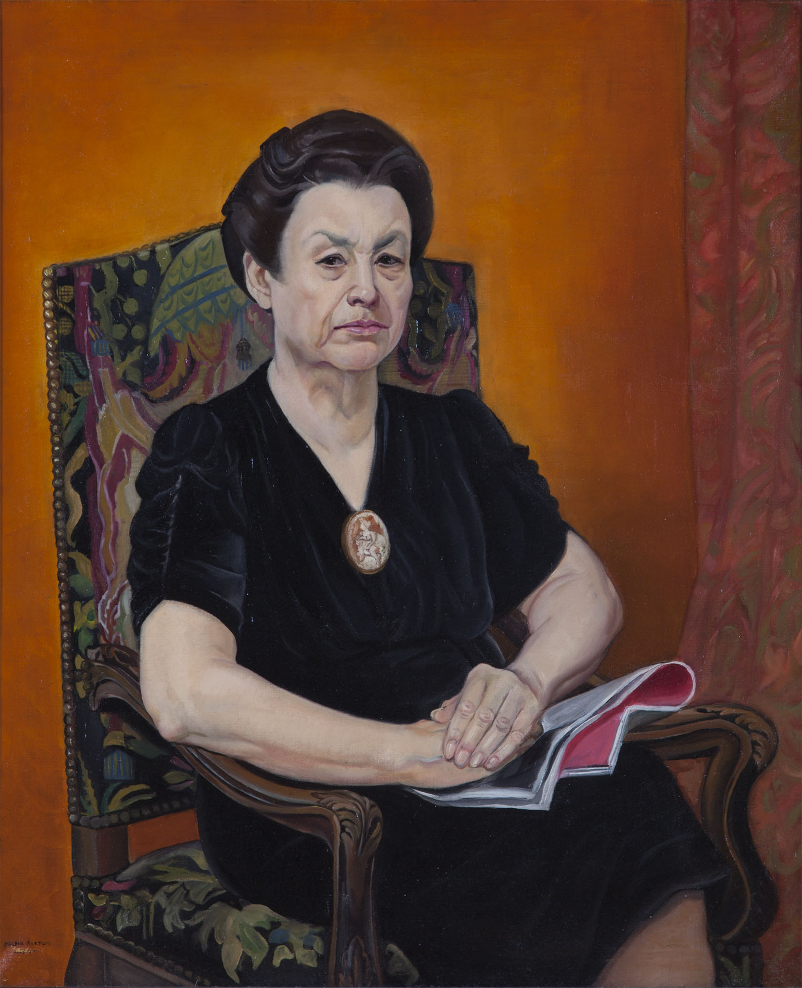 Macena Alberta Barton, Untitled [artist's mother], ca. 1930. Oil on canvas. Collection of DePaul Art Museum, gift of Mr. and Mrs. Harlan J. Berk, 2007.1