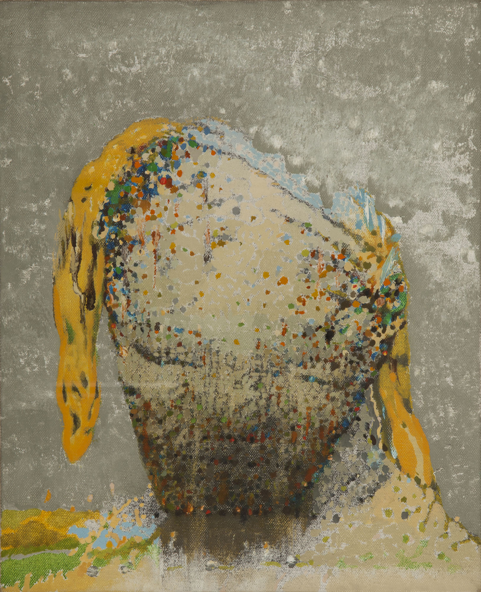 Irving Petlin, Head, 1975. Oil on board. Collection of DePaul Art Museum, gift of Samuel and Blanche Koffler, 2012.116