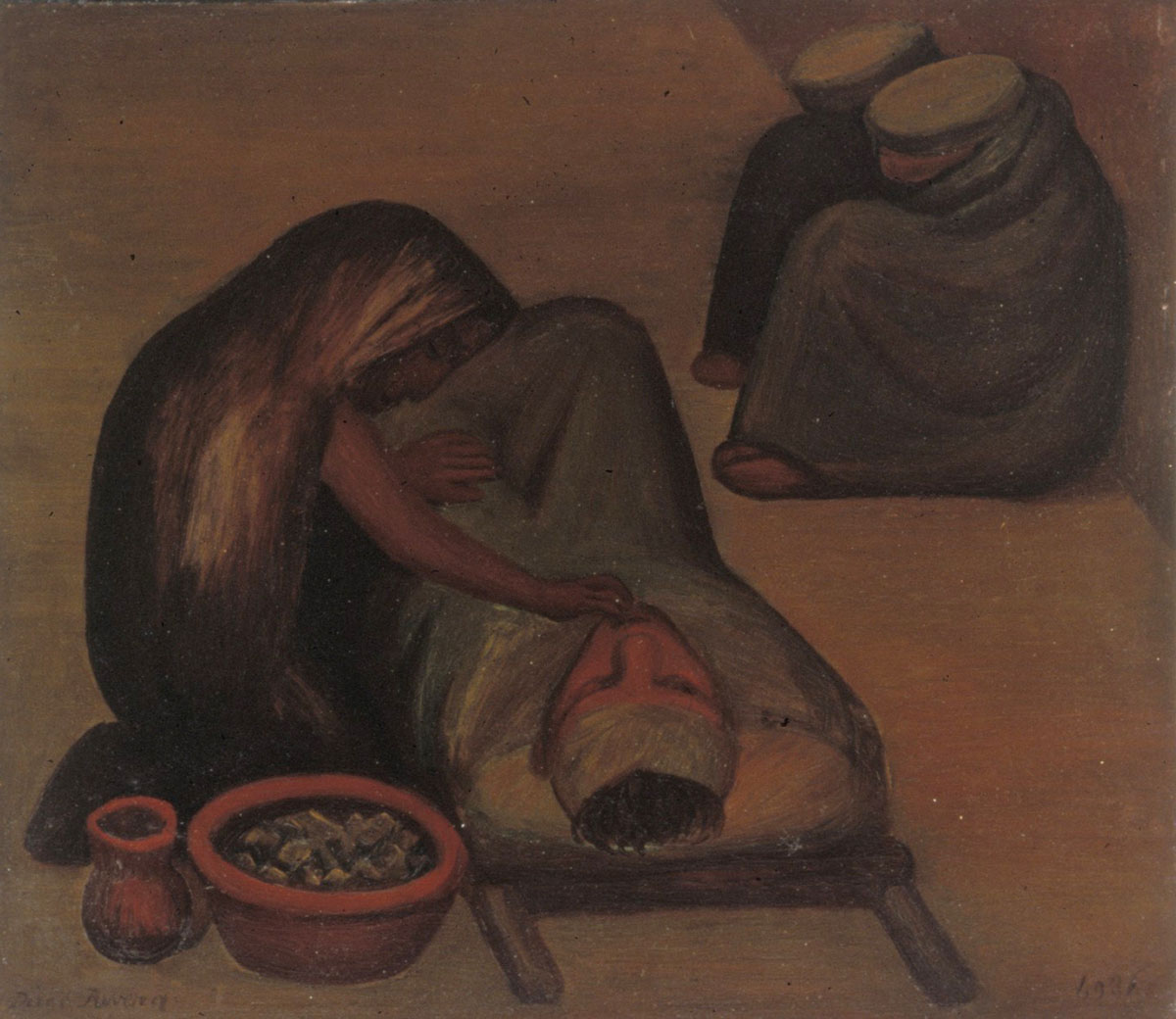 Diego Rivera, Wounded Soldier, 1931. Oil on tin. Collection of DePaul Art Museum, Art Acquisition Endowment, in Honor of DePaul's Centennial Anniversary, 1999.1.