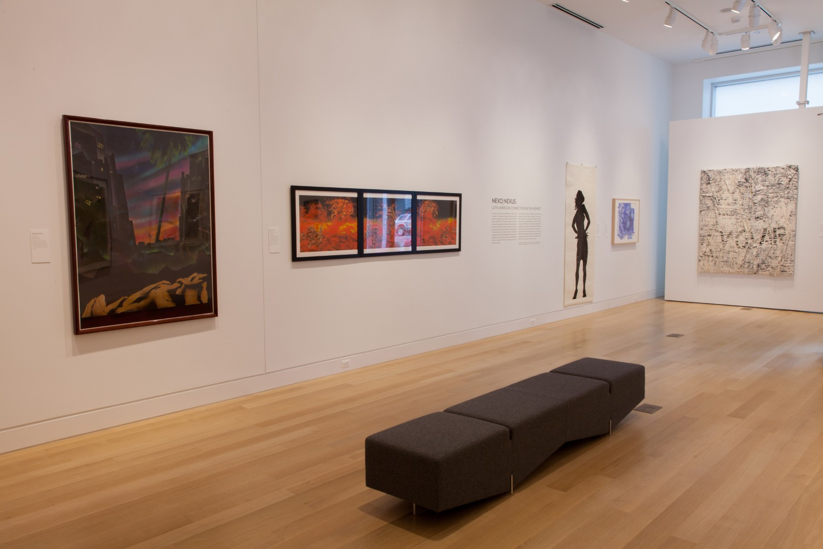 "Installation view of ""Nexo/Nexus: Latin American Connections in the Midwest"""