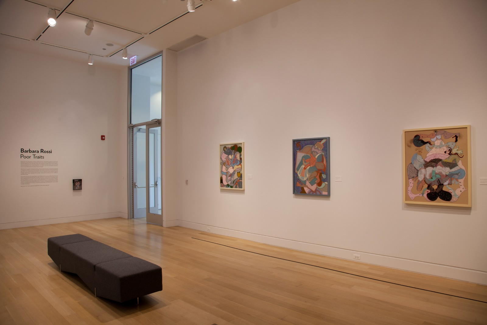 "Barbara Rossi, installation view of ""Barbara Rossi: Poor Traits"""