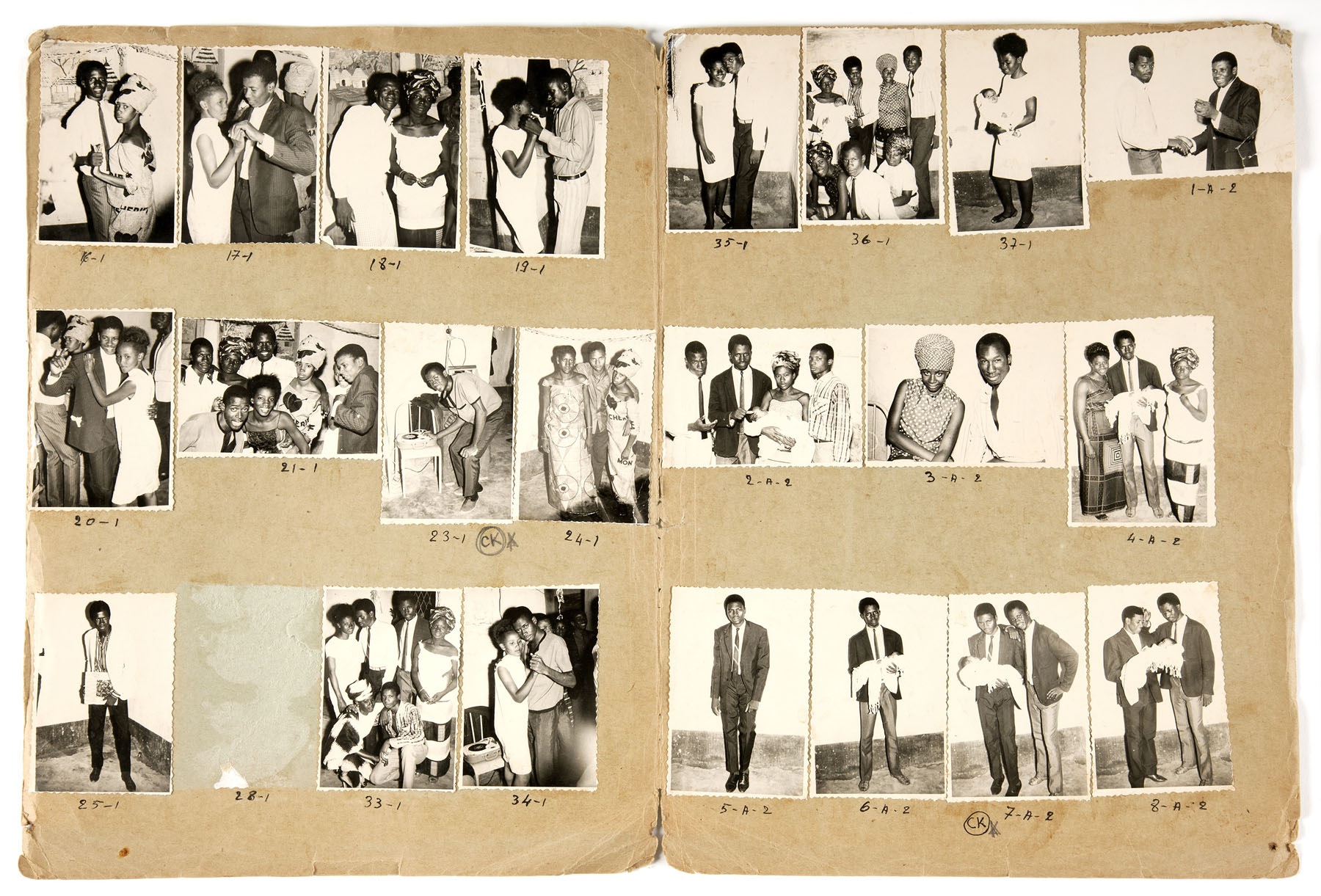 Malick Sidibé, Baptism, 1967. Gelatin silver prints mounted to paper. © Malick Sidibé / Gwinzegal / diChroma photography