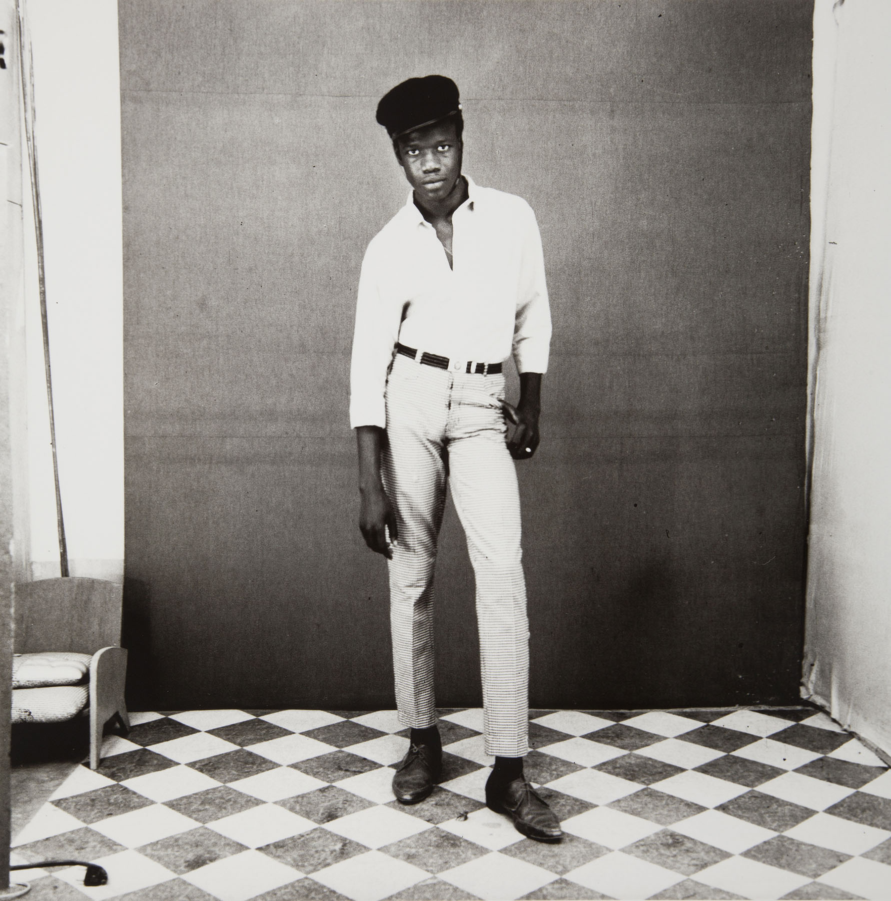 Malick Sidibé, The Pretend Sailor, 1967. Gelatin silver print. © Malick Sidibé / Gwinzegal / diChroma photography