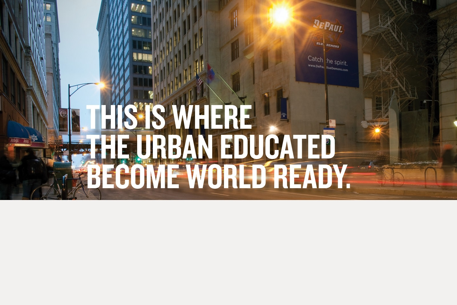 This is where the urban educated become world ready.