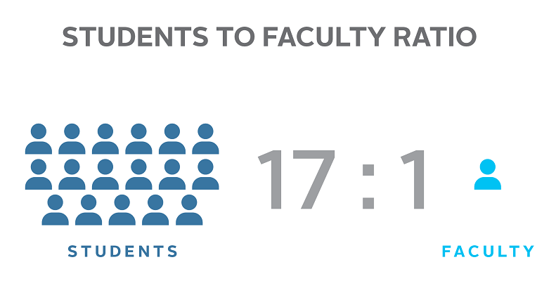 Students to Faculty Ratio - 17:1