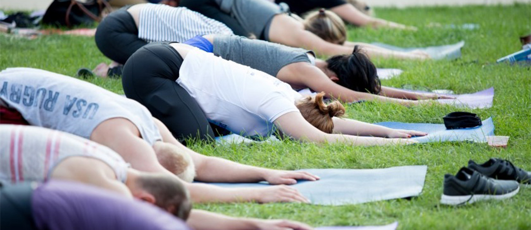 Yoga on Wish Field; Friday, June 1