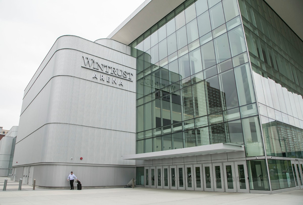 Entrance to the Wintrust Arena