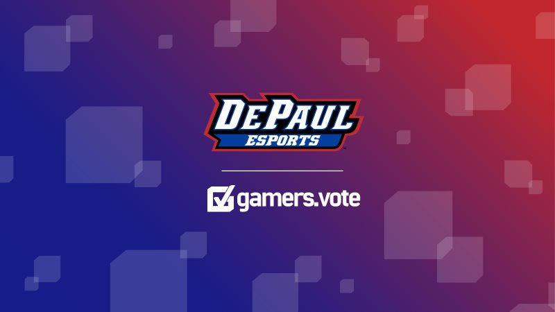 DePaul Esports teams up with gamers.vote to support non-partisan voter initiative