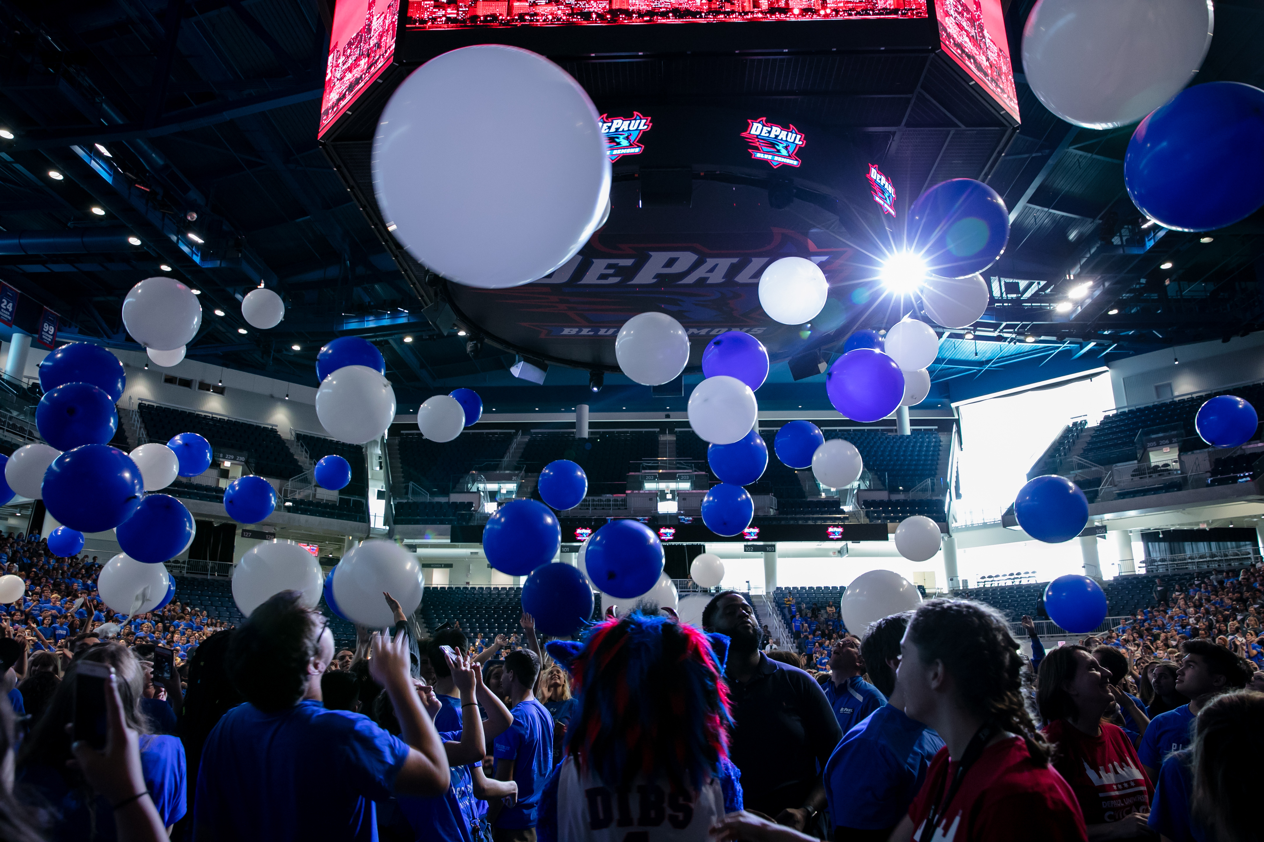 A surprise balloon drop ended the upbeat ceremony. (DePaul University/Randall Spriggs)
