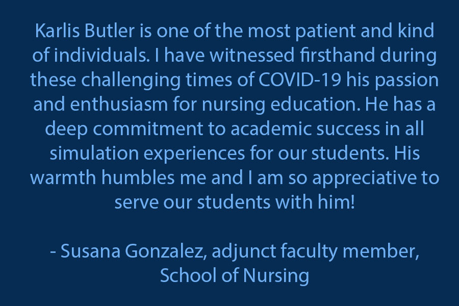 Susana Gonzalez, adjunct faculty member in the School of Nursing