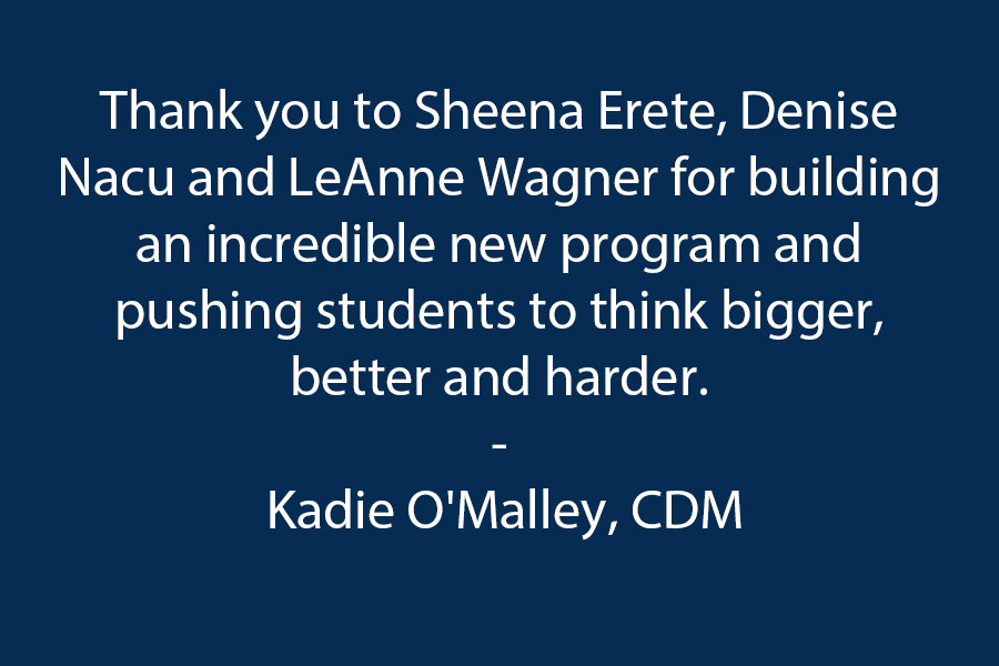 Thank you to Sheena Erete, Denise Nacu, and LeAnne Wagner for building an incredible new program and pushing students to think bigger, better, and harder.