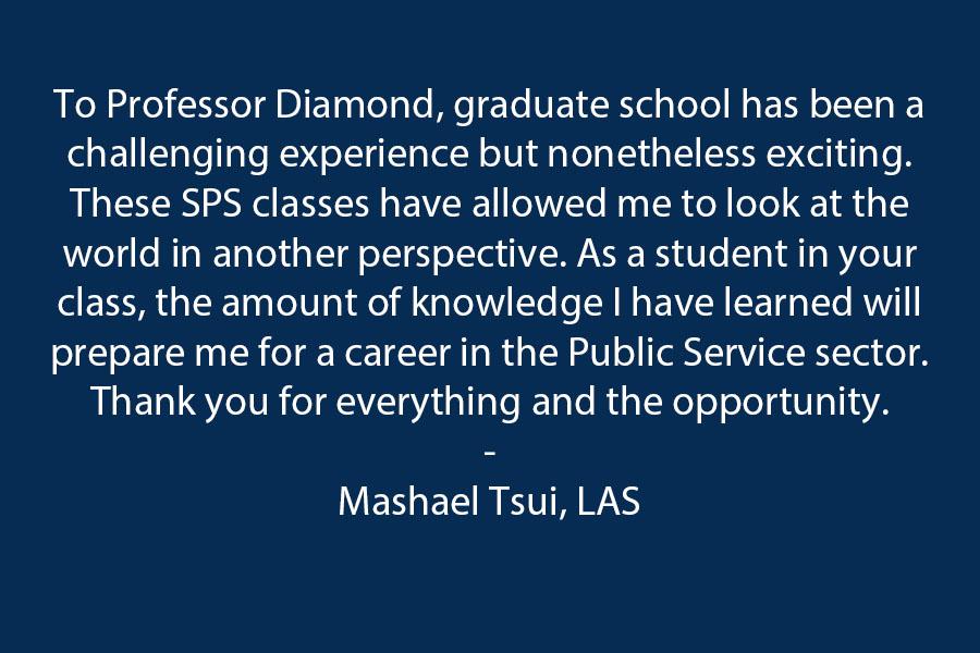 Dear Professor Diamond