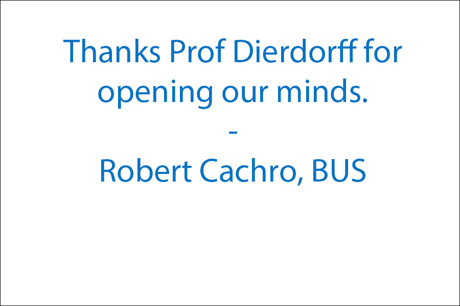 Thanks Prof Dierdorff for opening our minds to BS.... It's EVERYWHERE!