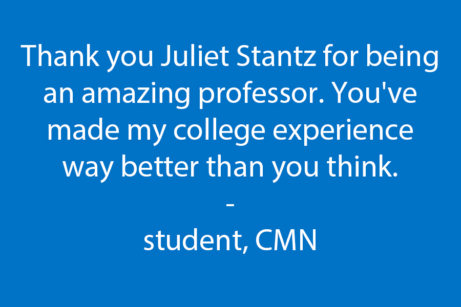 Thank you for being an amazing professor - You've made my college experience way better than you think.