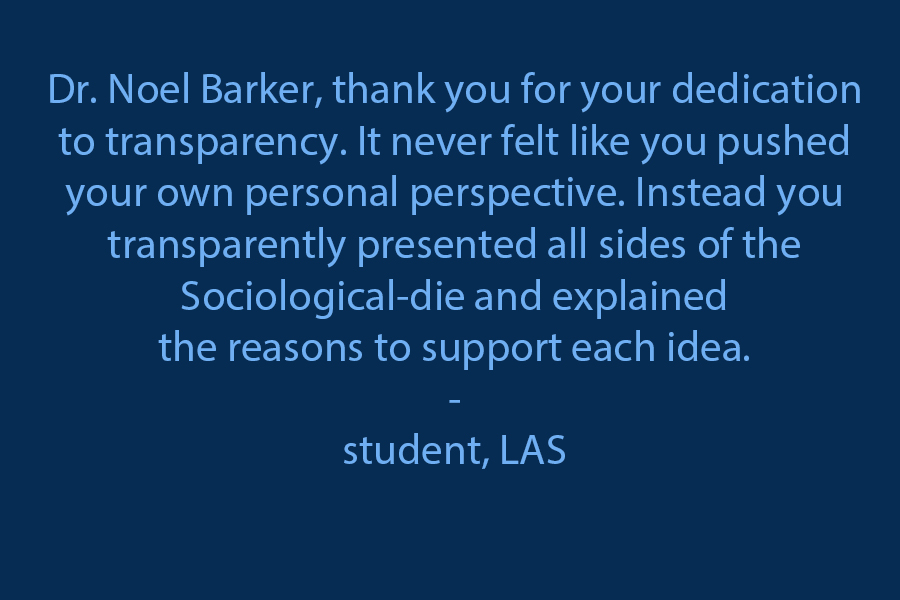 I wanted to thank you for your dedication to transparency. It never felt that you pushed your own personal perspective; instead, you transparently presented all sides of the Sociological-die and explained the reasons to support each idea.