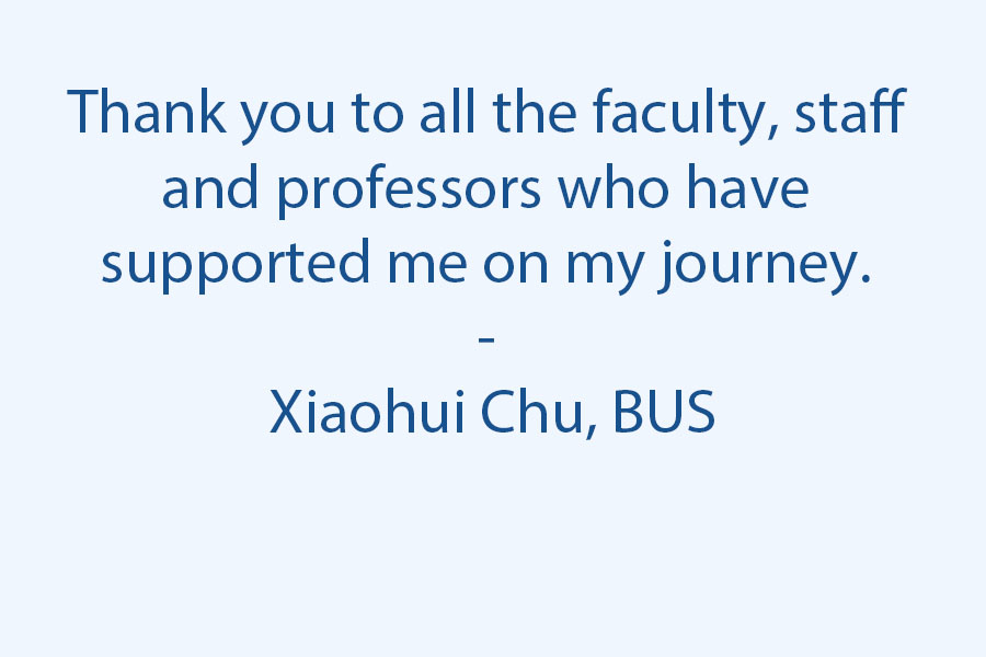 Thank you to all the faculty, staff, and professors who have supported me on my journey.