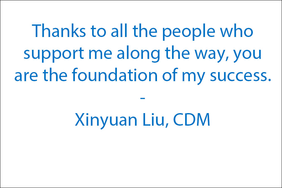 Thanks to all the people who support me along the way, you are the foundation of my success.