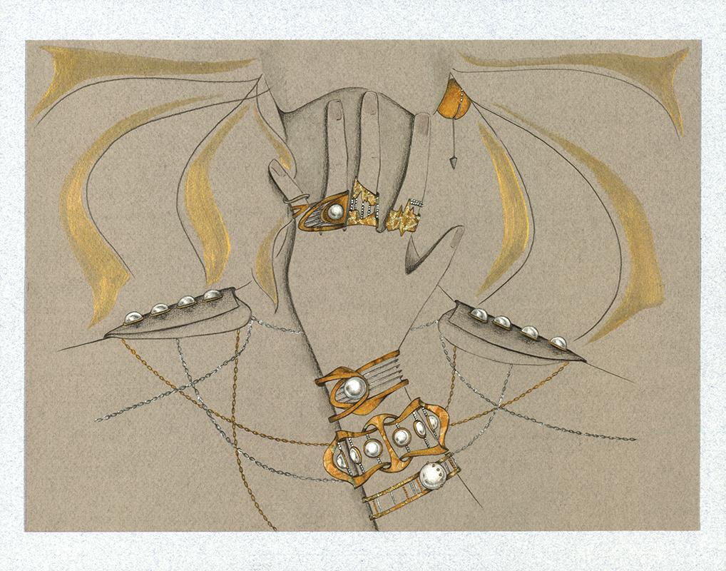 """""""Perla y Oro,"""" by Mildred Santiago"""