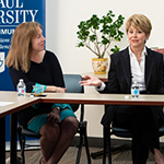Journalists Jane Pauley and Ann Pistone visit DePaul, receive honors