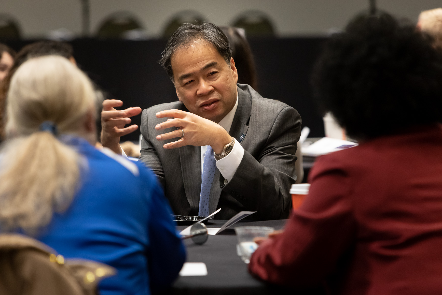 A. Gabriel Esteban, Ph.D., president of DePaul University, took part on the discussions. (DePaul University/Jeff Carrion)​