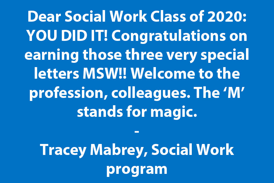 Congratulations - Social Workers! The M Stands for Magic!