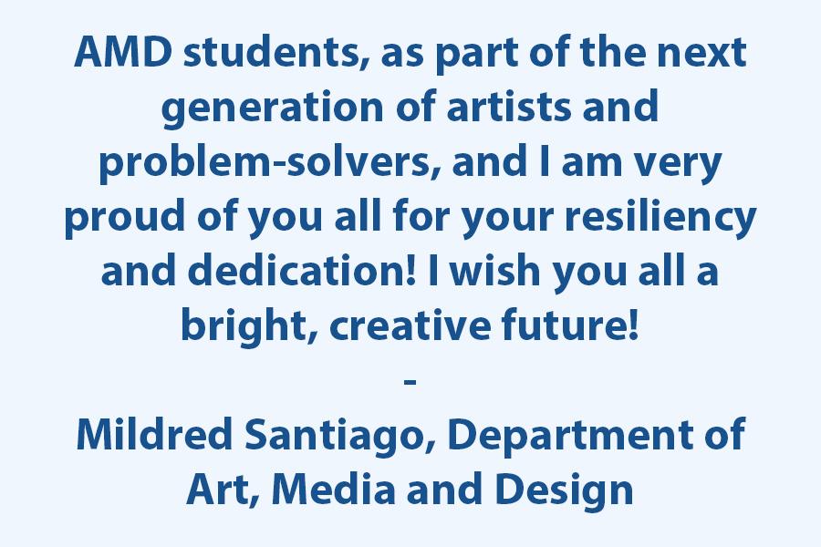 Graduating class of Art, Media, and Design (AMD), Congratulations!