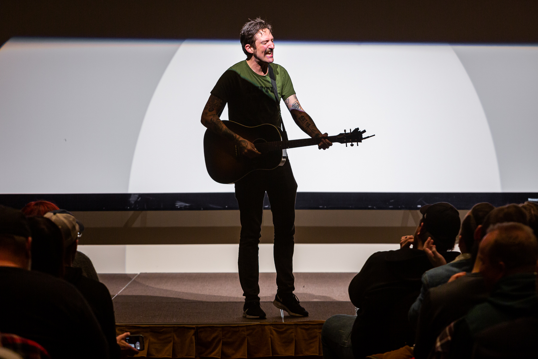 Frank Turner, musician, flew in from London to perform an acoustic set for the participants. (DePaul University/Randall Spriggs)