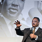 Rev. Jesse L. Jakcson Sr. speaks at annual MLK prayer breakfast