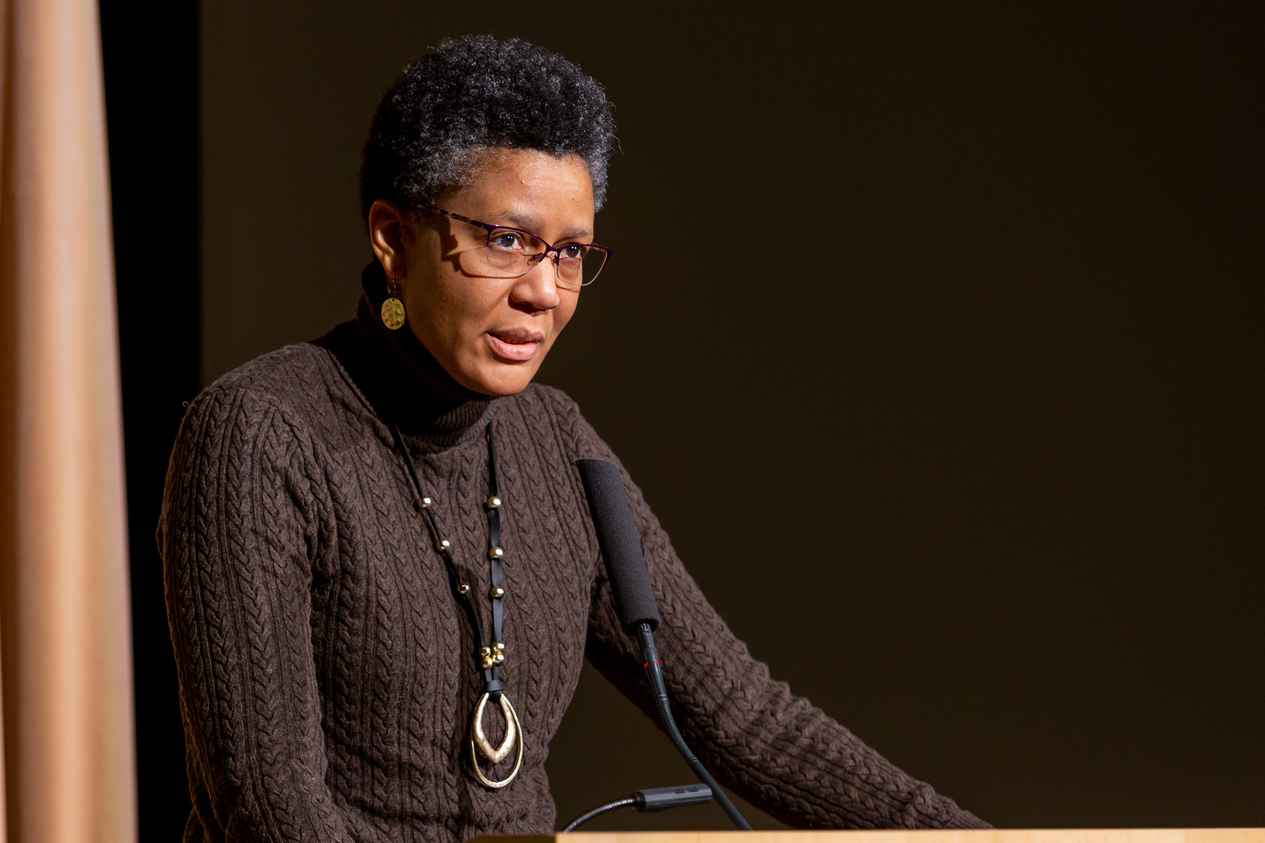Associate Professor Quinetta Shelby offered closing remarks at the breakfast. (DePaul University/Randall Spriggs)