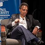 Chicago Mayor Lori Lightfoot visits DePaul