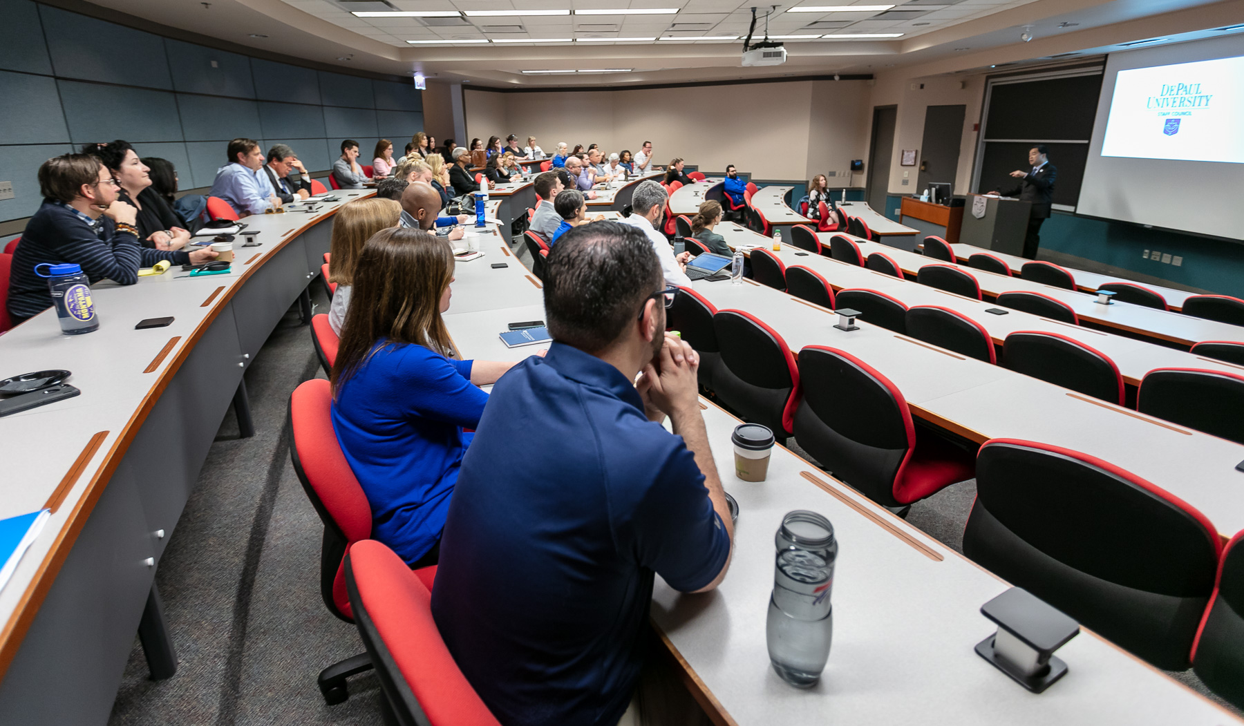 Staff Council holds annual town hall with President Esteban