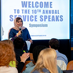 University hosts 10th annual Service Speaks symposium