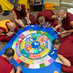 Tibetan Monks Create, Then Destroy Sand Mandala