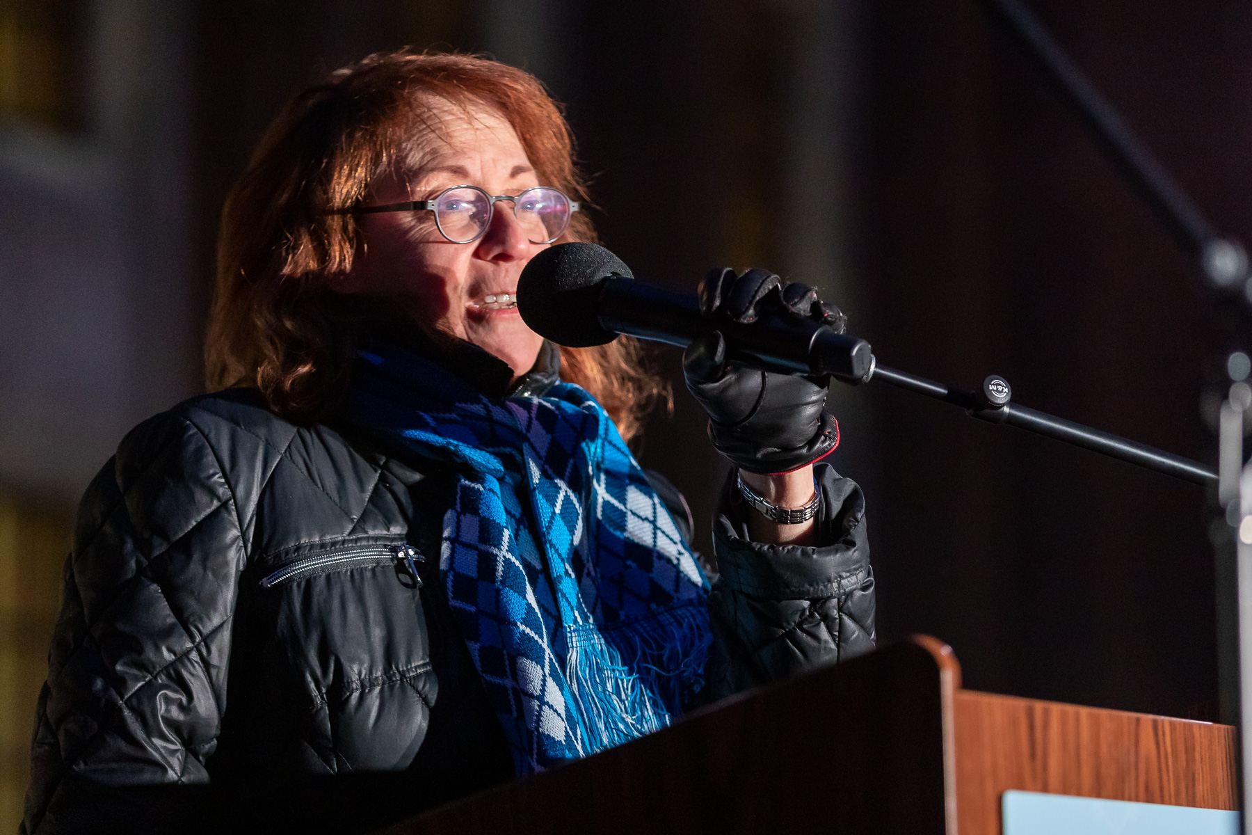 Michele Smith, alderman of Chicago's 43rd Ward, also spoke at the ceremony. (DePaul University/Jeff Carrion)
