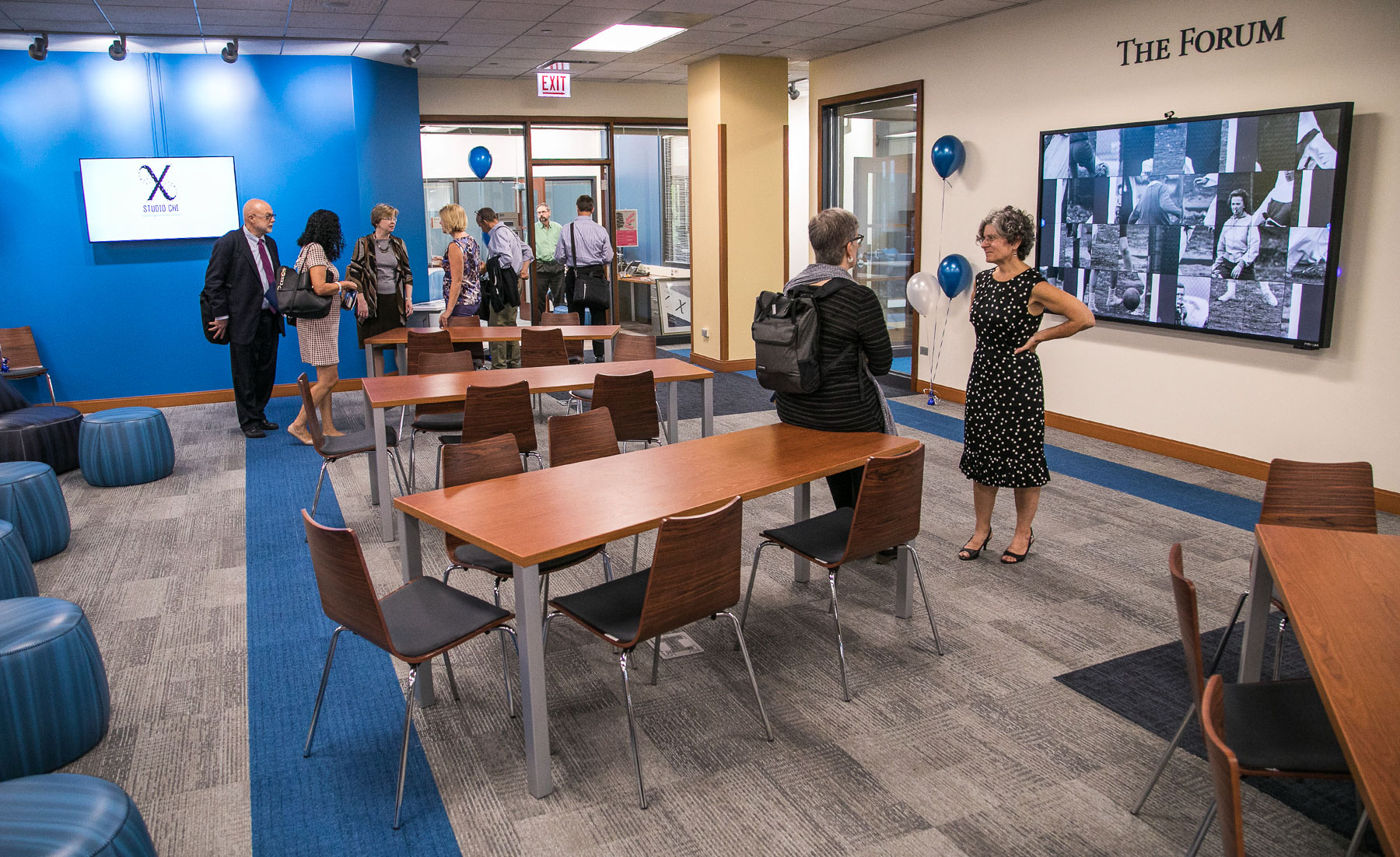 "The second floor of the Richardson Library now features a 3D scanning and printing ""Maker Hub"" area, audio and video recording/editing rooms in the new 1581 Media Studios, several high-tech classroom spaces, and the new home for Studio CHI. (DePaul University/Jamie Moncrief)"