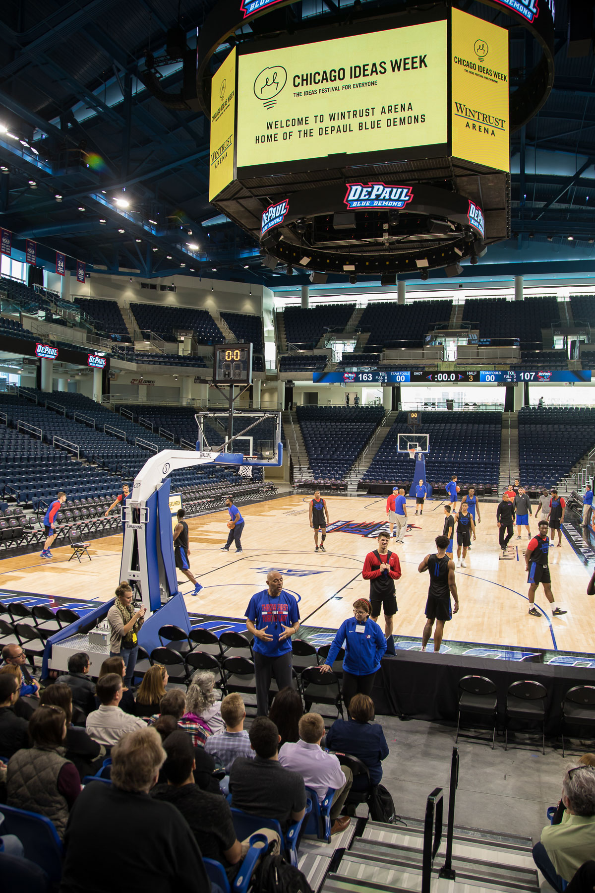 Dave Leitao, men's basketball head coach, talks about the impact the new arena will have on DePaul basketball in the future. (DePaul University/Jeff Carrion)