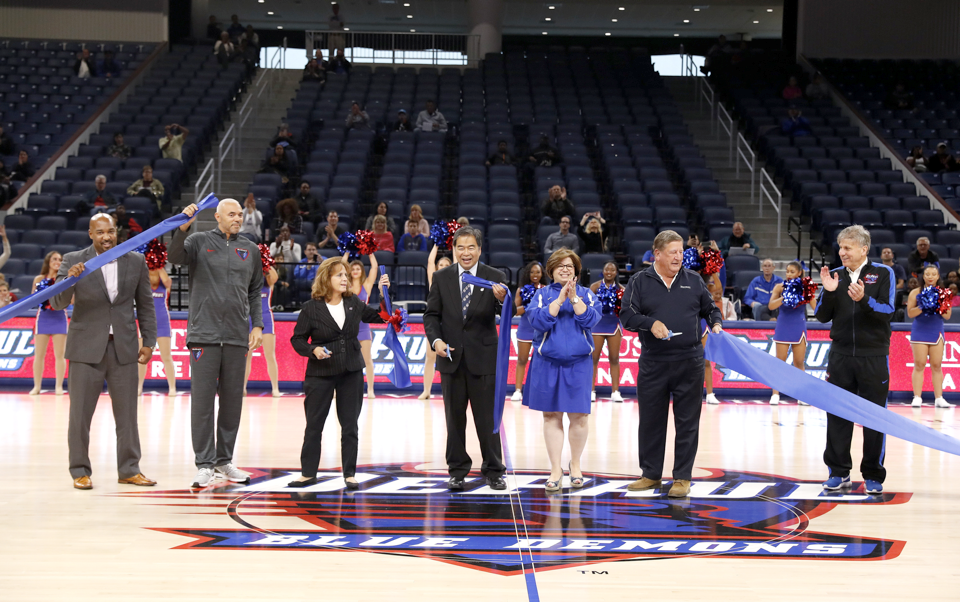With 10,000 seats and 22 suites, Wintrust Arena is both an intimate and state-of-the-art venue intended to better connect the near South Side and city at large through sports and entertainment. (Steve Woltmann/DePaul Athletics)