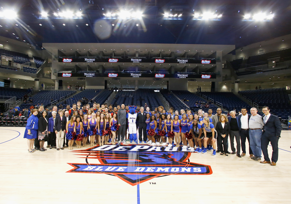 The arena is the newest home to DePaul University men's and women's basketballs teams, as well as Chicago's WNBA team, the Chicago Sky. (Steve Woltmann/DePaul Athletics)