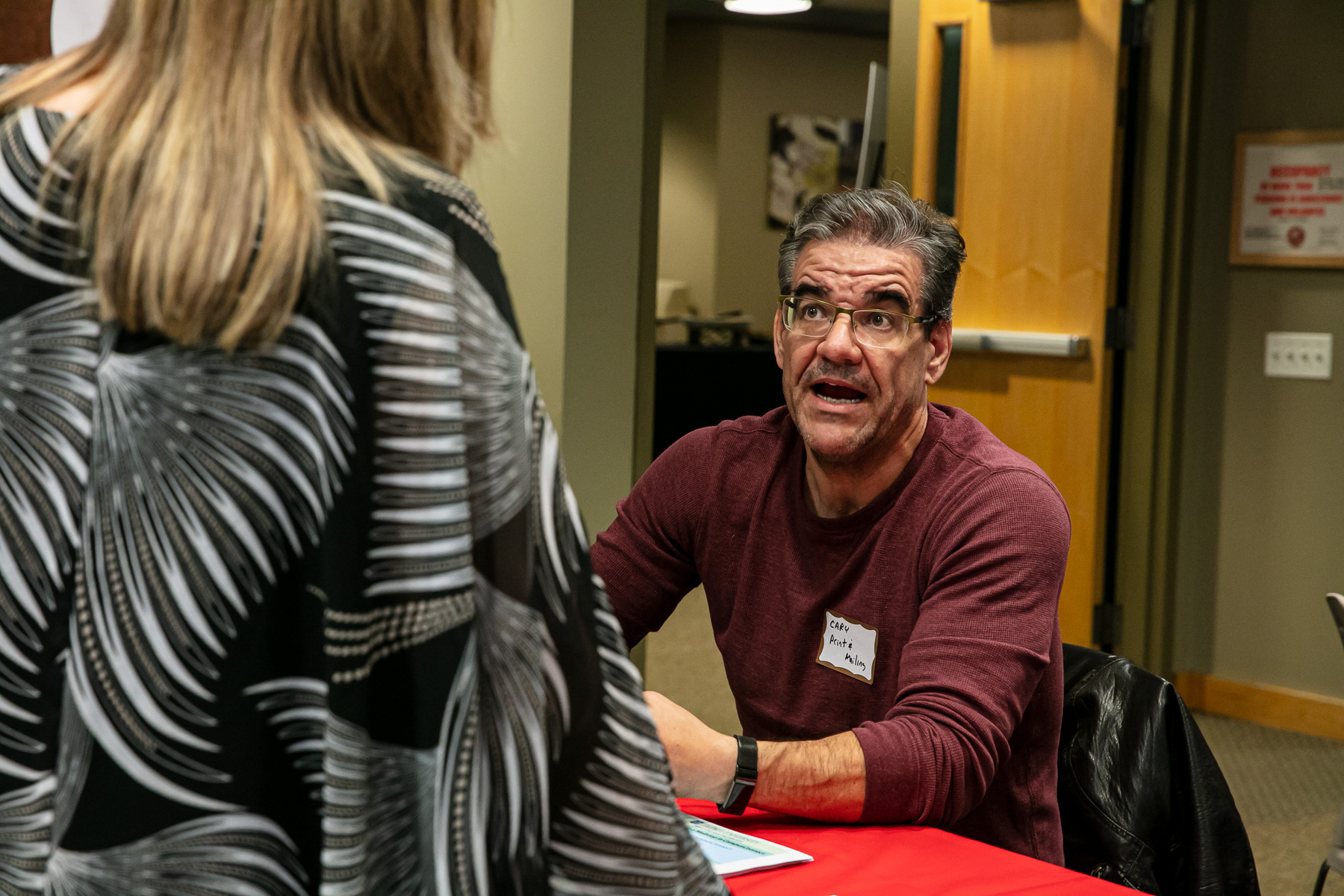 Department represetatives were present in providing information for services like print and mailing resources that adjunct faculty can utilize for their applicable course needs. (DePaul University/Randall Spriggs)