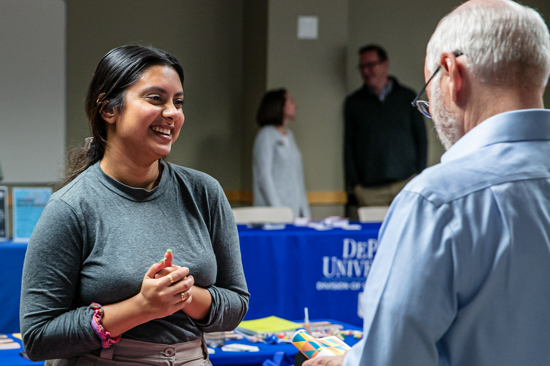 Representatives from Health Promotion and Wellness was in attendance to share information reguarding health programs beneficial for both students and faculty. (DePaul University/Randall Spriggs)