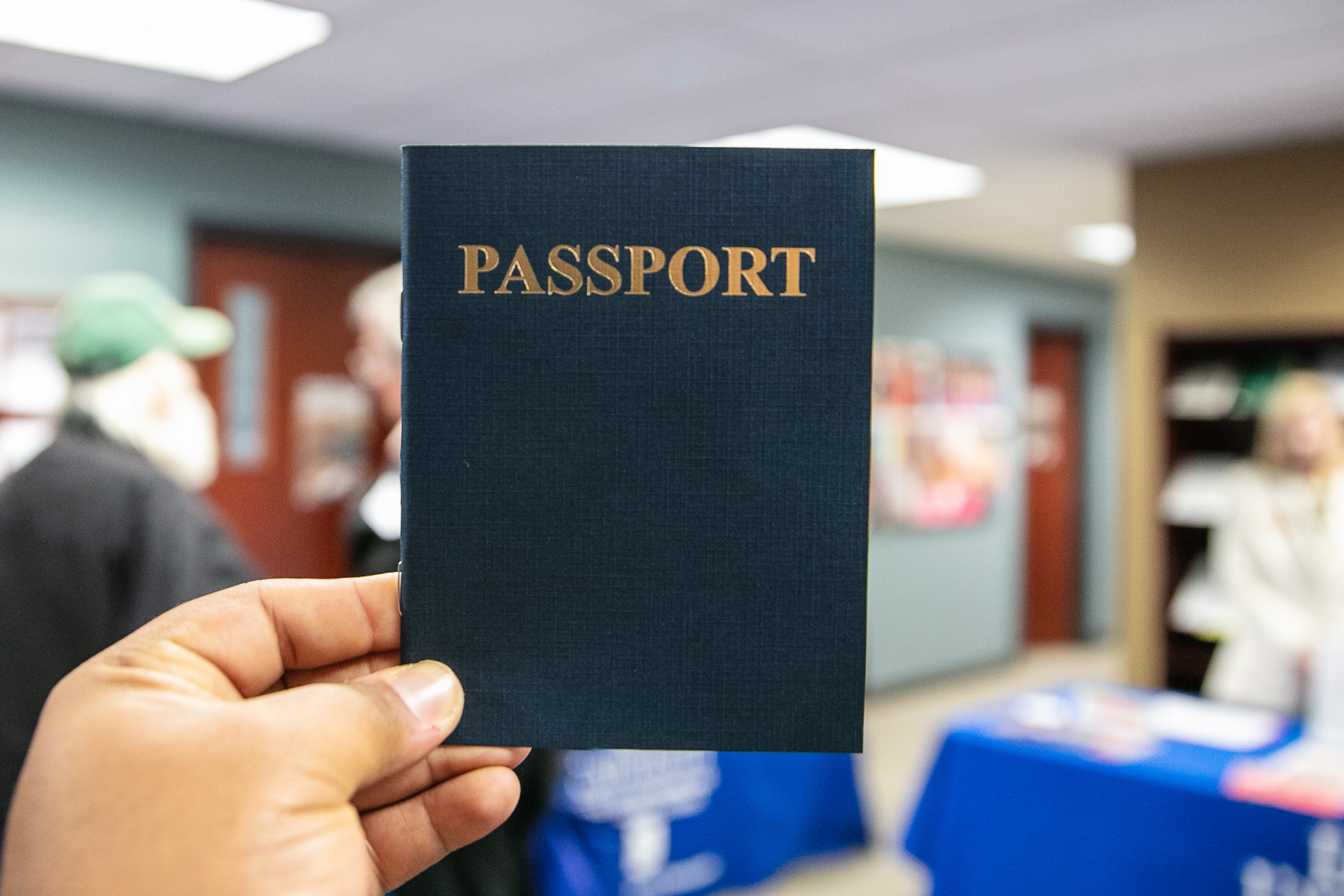 Attendees received a passport, indicating that they have completed learning about resources provided at the School of Continuing and Professional Studies. Participants received a reward after their visit. (DePaul University/Randall Spriggs)