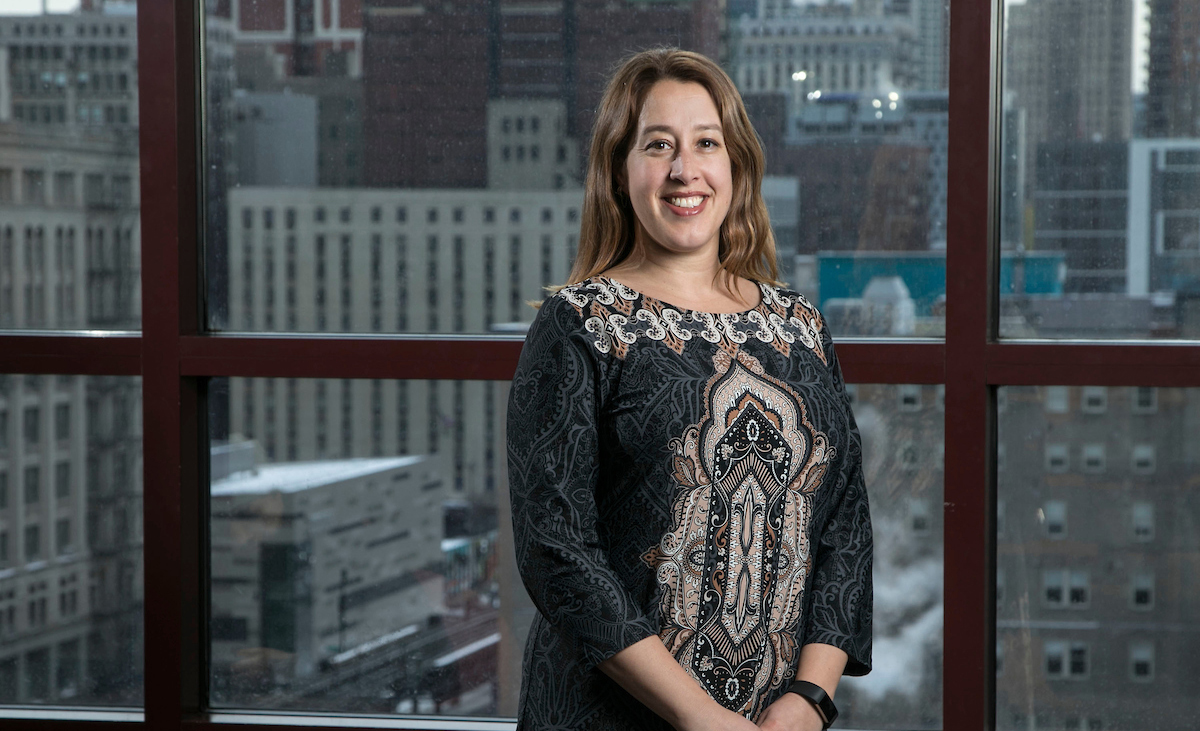 In addition to the various outward financial transactions, Erin Archer, DePaul's treasurer, and her team also work on DePaul's 403(b) retirement plan and help the Board of Trustees manage the university's endowment. (DePaul University/Jamie Moncrief)