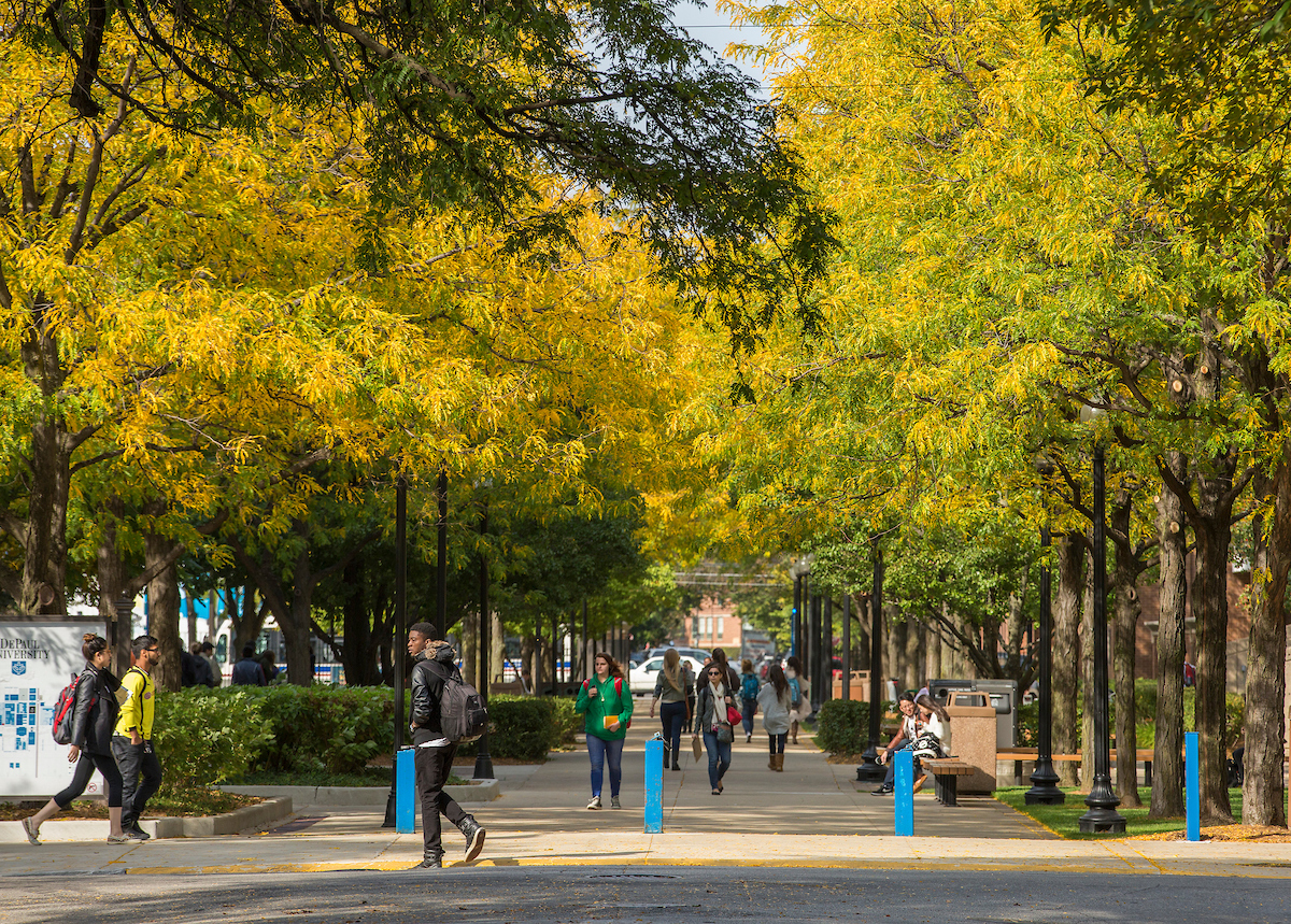 DePaul Lincoln Park Campus during the fall quarter