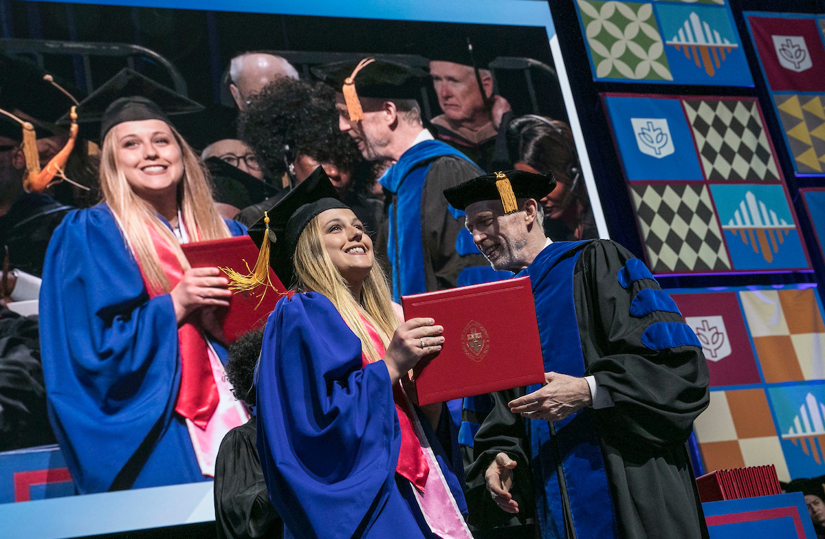 DePaul grad at commencement