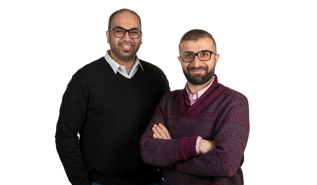 College of Computing and Digital Media PhD students Badar al Lawati, left, and Redar Ismail won a Google Cloud Platform Scholarship to build out a refugee hiring platform called BridgeLink. (DePaul University/Jeff Carrion)
