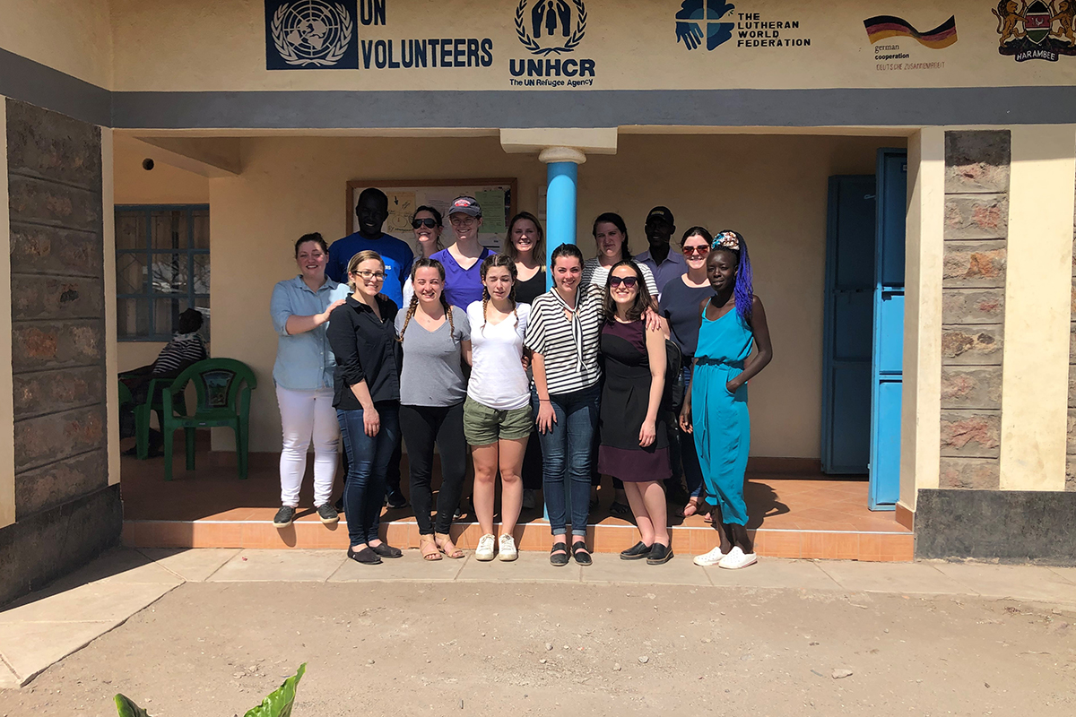 College of Law students on a service trip to Kenya