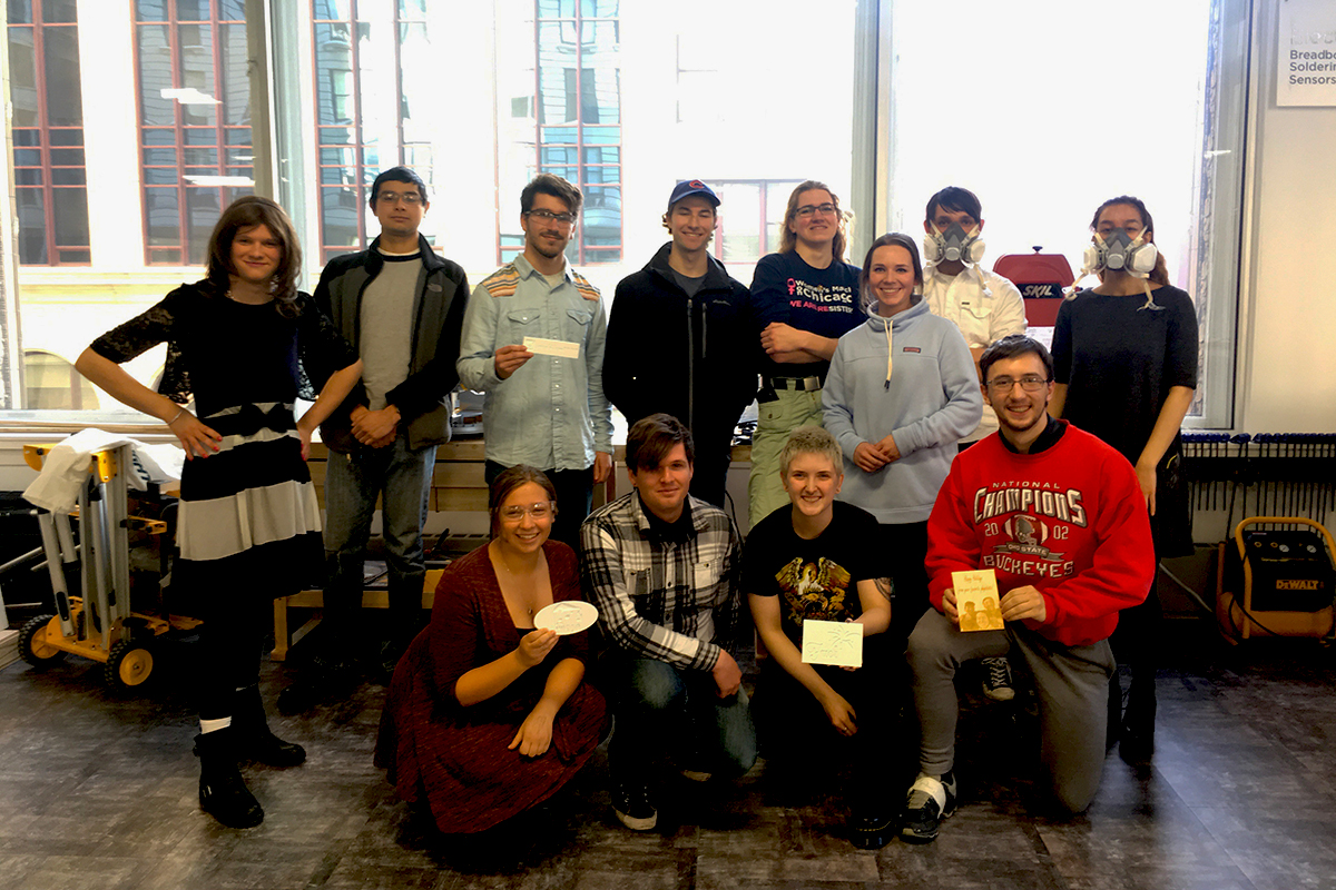 DePaul's chapter of the Society of Physics Students. (Image courtesy of Mary Ann Quinn)